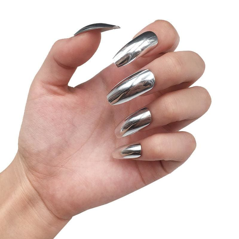 Drag Nails Titanium (24 Pieces) Nail Tips