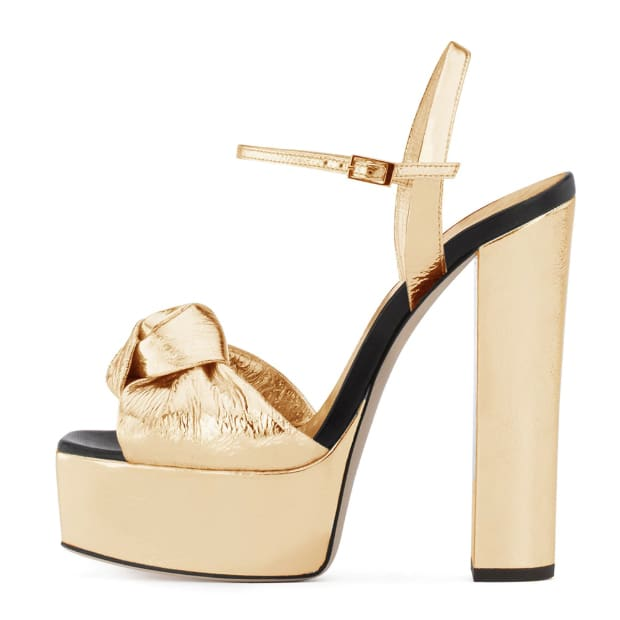 Drag Sandals Cherine (2 Colors) Gold / 4 Sandals