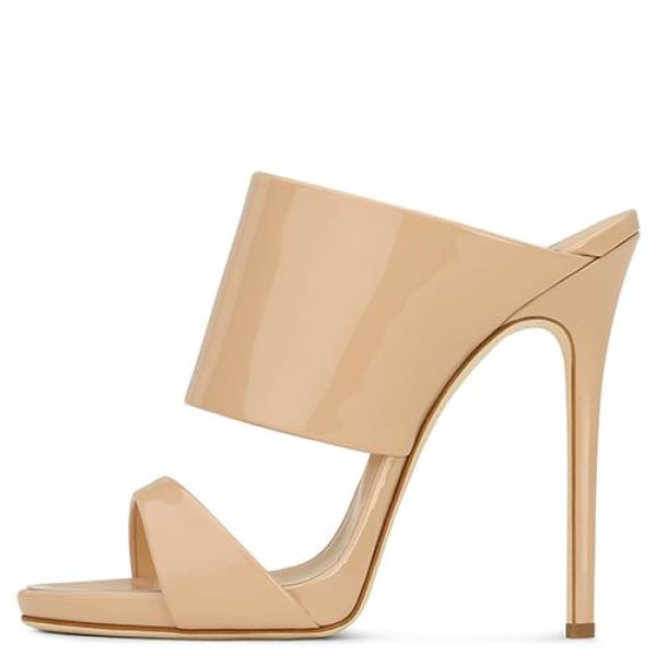Drag Sandals Katya (Rose Gold or Nude) Nude / 4 Sandals