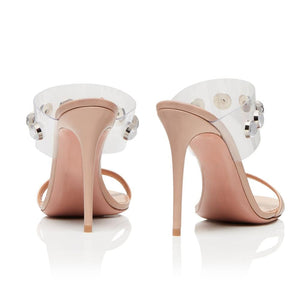Drag Sandals Kimma (Nude or Silvery) Sandals