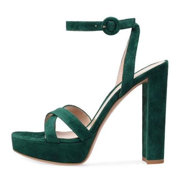 Drag Sandals Leanna (3 Colors) Green / 11 Sandals