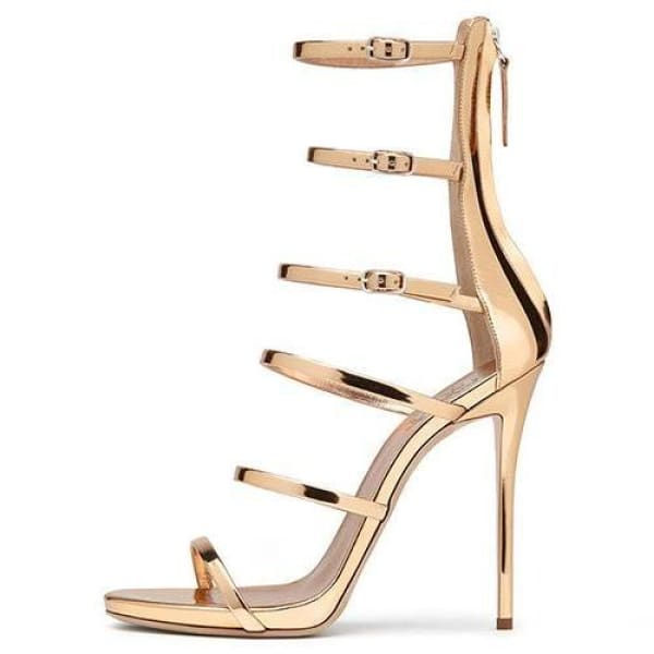 Drag Sandals Roma (Golden or Silvery) Golden / 4 Sandals