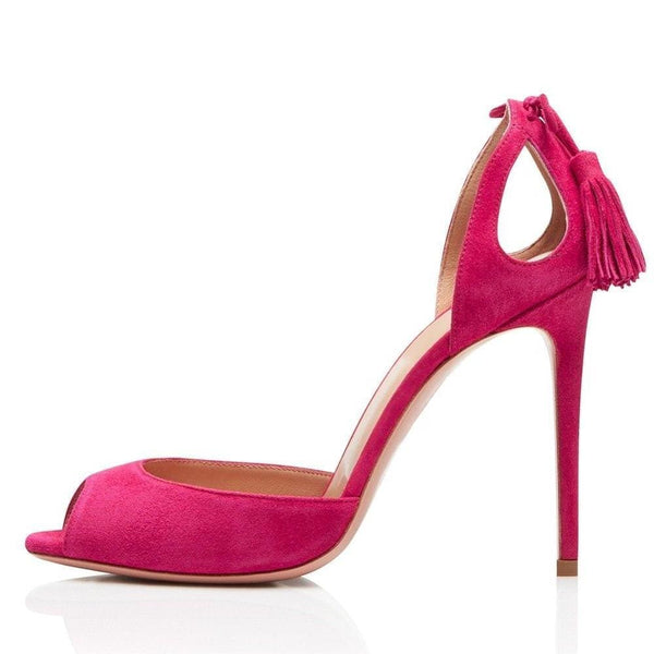 Drag Sandals Rossi (Pink or Black) Pink / 4 Sandals