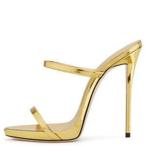 Drag Sandals Tammie (Champagne and Golden) Golden / 4 Sandals