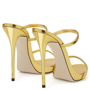 Drag Sandals Tammie (Champagne and Golden) Sandals