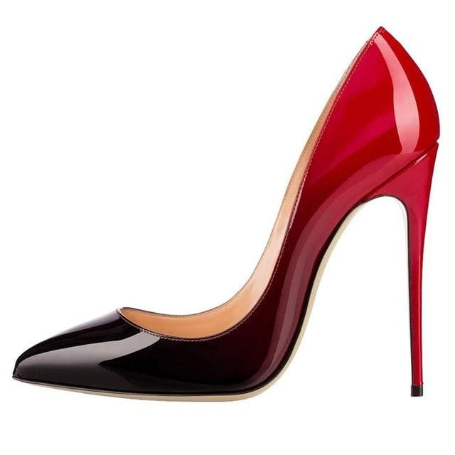 Drag Shoes Coulée (Multiple Colors) Black Red / 11 Pumps
