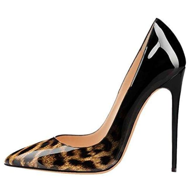 Drag Shoes DuJour (Black or White) Leopard and Black / 11 Pumps