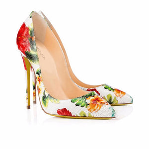 Drag Shoes Flowers Pumps