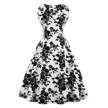 Load image into Gallery viewer, Dress Drag Poppy (Multiple Patterns) White And Black / S Dress