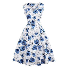Load image into Gallery viewer, Dress Drag Poppy (Multiple Patterns) White And Blue / S Dress
