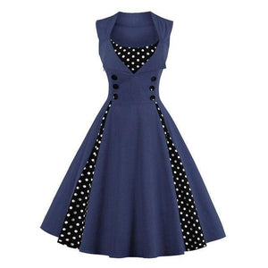 Dress Drag Swing (Different Variants) Navy / S Dress