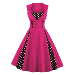 Dress Drag Swing (Different Variants) Rose red / M Dress