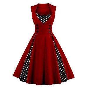 Dress Drag Swing (Different Variants) Wine red / S Dress
