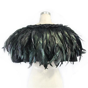 Feather Coat Drag Falcon Cape