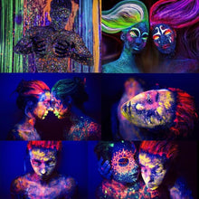 Load image into Gallery viewer, Fluorescent Neon UV Bright Paint (8 Colors) Body Paint