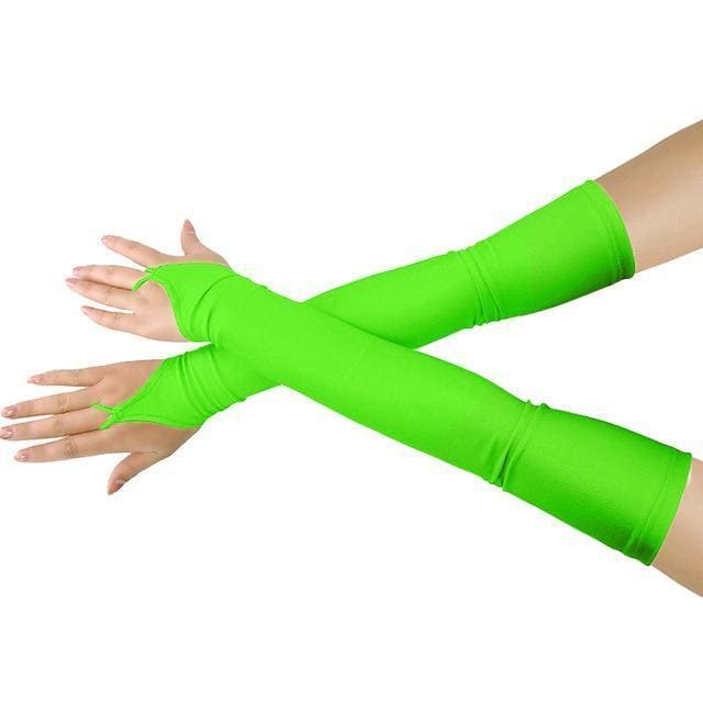 Gloves Drag Britney (19 Colors) Fluorescent Green / One Size Gloves