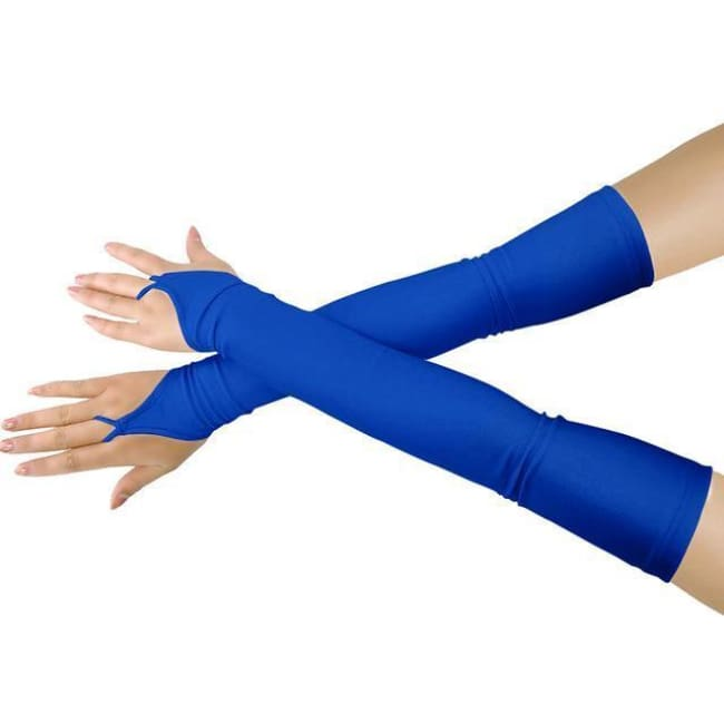 Gloves Drag Britney (19 Colors) Royal Blue / One Size Gloves