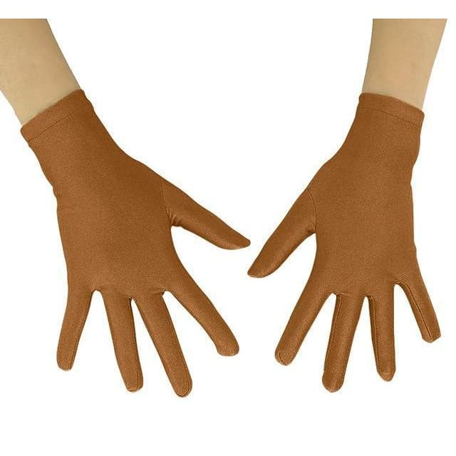 Gloves Drag Mimic (19 Colors) Brown / 10 Inch Gloves