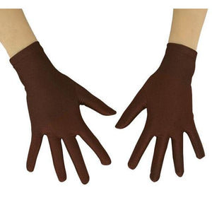 Gloves Drag Mimic (19 Colors) Dark Brown / 10 Inch Gloves