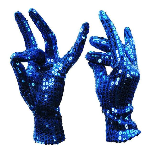 Gloves Drag Sequins (5 Colors) Blue Gloves