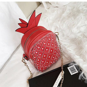 Handbag Drag Ananas (4 Colors) Red Handbag