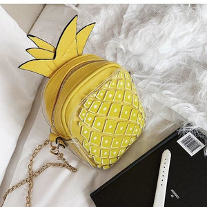 Handbag Drag Ananas (4 Colors) Yellow Handbag