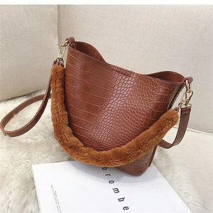 Handbag Drag Julienne (3 Colors) Brown Handbag