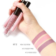 Load image into Gallery viewer, Matte Liquid Lip Gloss (Set of 3 - Different Colors) Kit 2 Lipstick