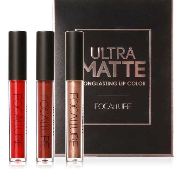Matte Liquid Lip Gloss (Set of 3 - Different Colors) Lipstick