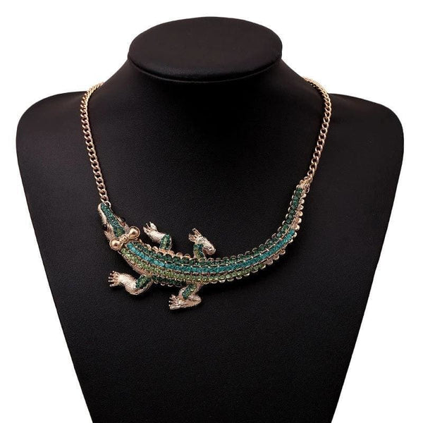 Necklace Drag Crocodile (Green or Red) Green Necklace