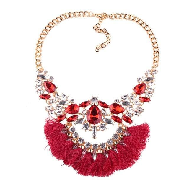 Necklace Drag Genie (3 Colors) Red Necklace