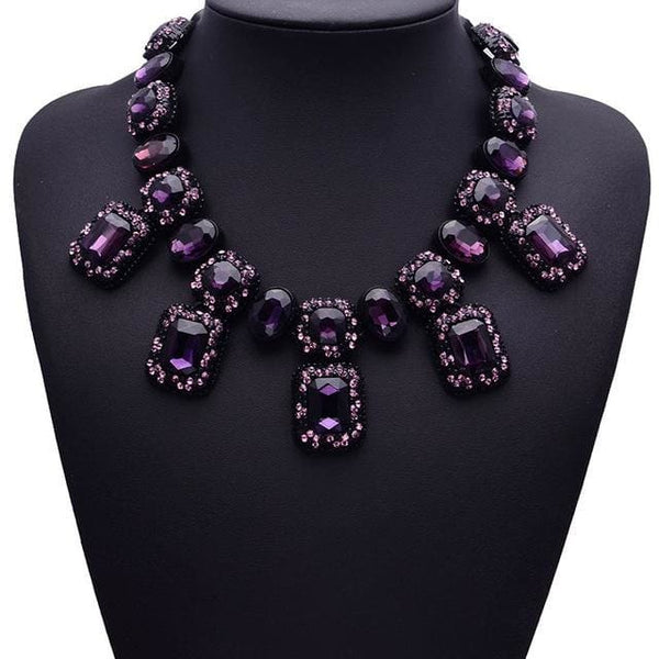 Necklace Drag Osiris (5 Colors) Purple Necklace