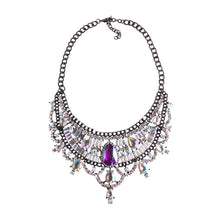Load image into Gallery viewer, Necklace Drag Vivien (Multiple Colors) AB Multicolor / 51cm Necklace