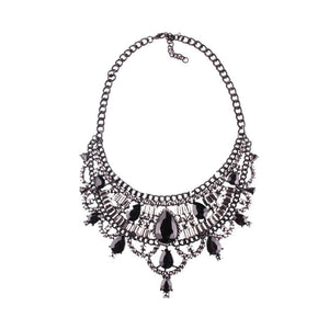 Necklace Drag Vivien (Multiple Colors) Black / 51cm Necklace