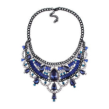 Load image into Gallery viewer, Necklace Drag Vivien (Multiple Colors) Blue / 51cm Necklace