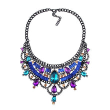Load image into Gallery viewer, Necklace Drag Vivien (Multiple Colors) Blue Multicolor / 51cm Necklace
