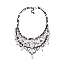 Load image into Gallery viewer, Necklace Drag Vivien (Multiple Colors) White / 51cm Necklace