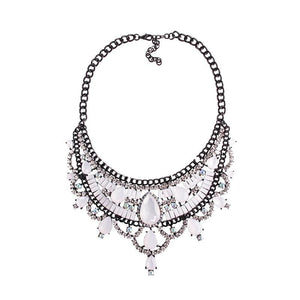 Necklace Drag Vivien (Multiple Colors) White / 51cm Necklace