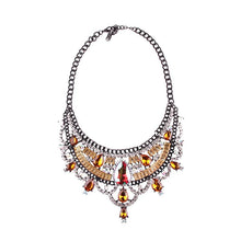 Load image into Gallery viewer, Necklace Drag Vivien (Multiple Colors) Yellow / 51cm Necklace