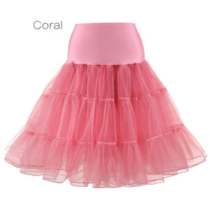 Petticoat Drag Marty (15 Colors) Coral / S Petticoat