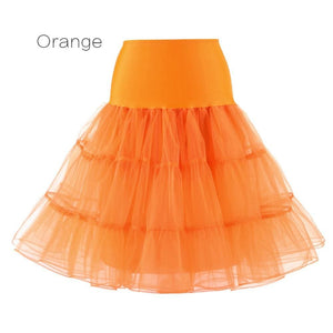 Petticoat Drag Marty (15 Colors) Orange / S Petticoat