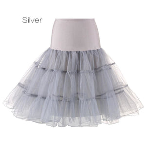 Petticoat Drag Marty (15 Colors) Silver / S Petticoat