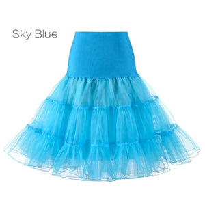 Petticoat Drag Marty (15 Colors) Sky Blue / S Petticoat