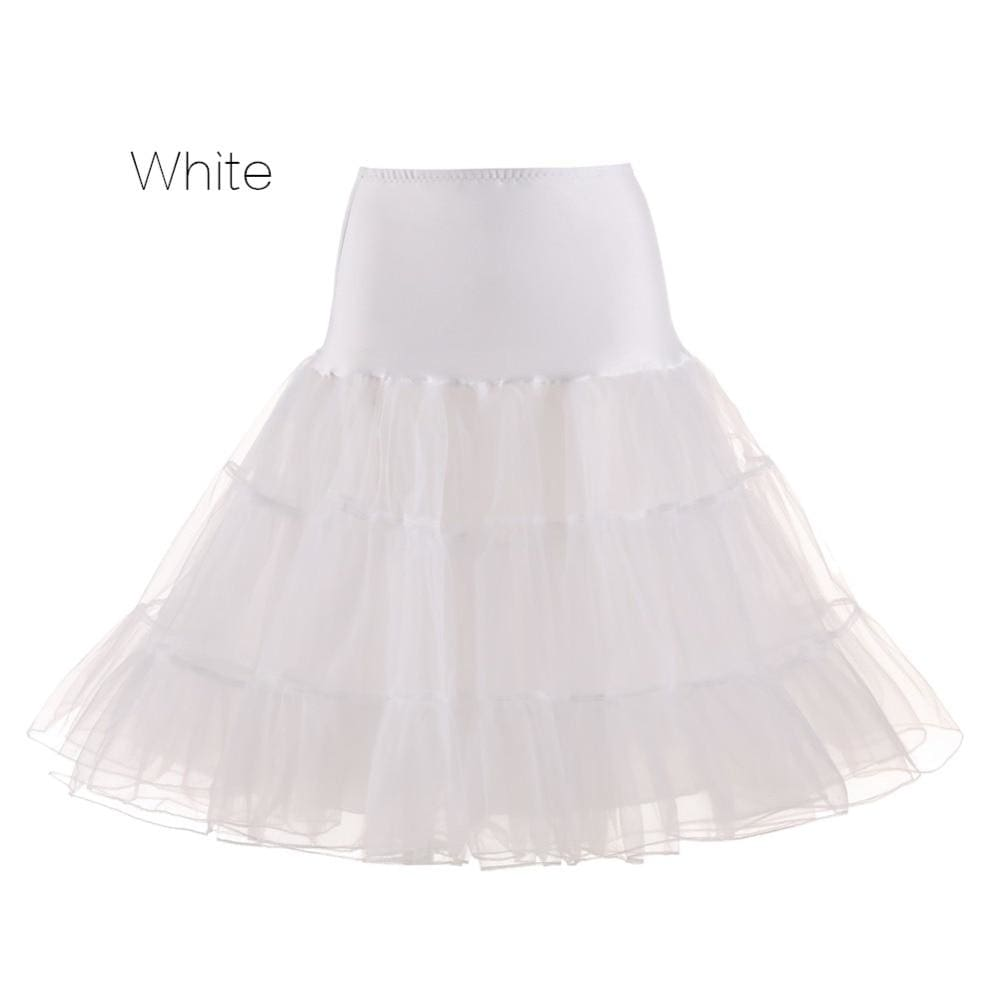 Petticoat Drag Marty (15 Colors) White / S Petticoat