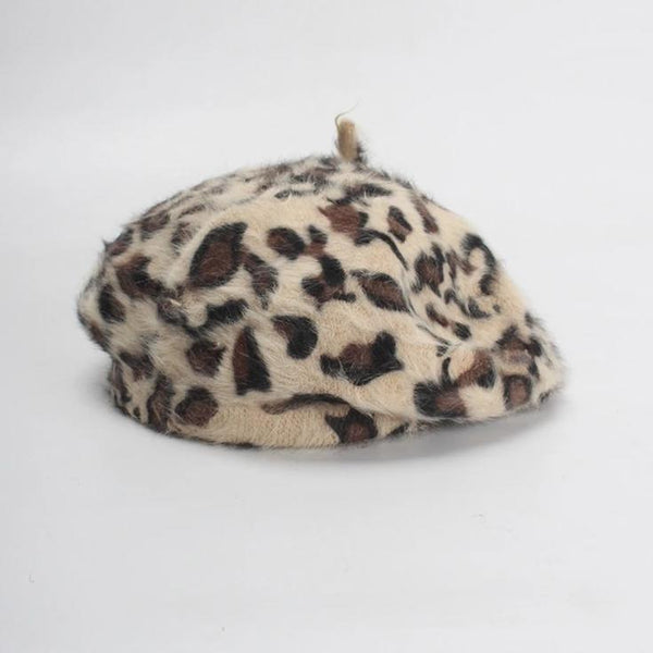 Beret Drag Leopard (5 Colors)
