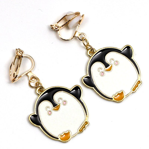 Clip Earrings Drag Penguin