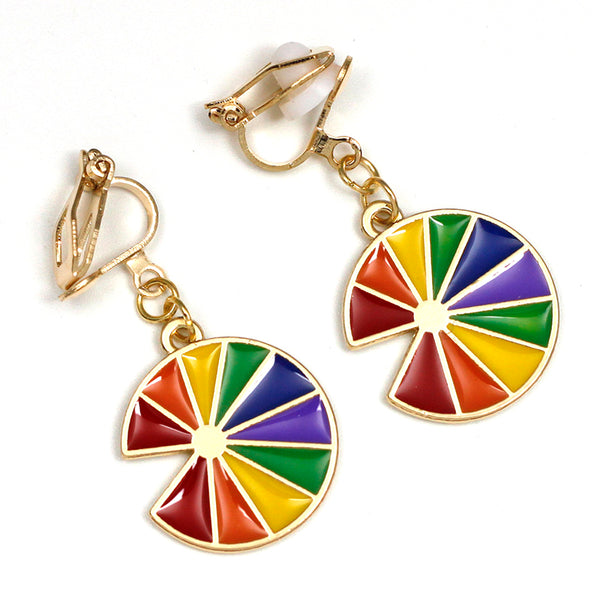 Clip Earrings Drag Fruit