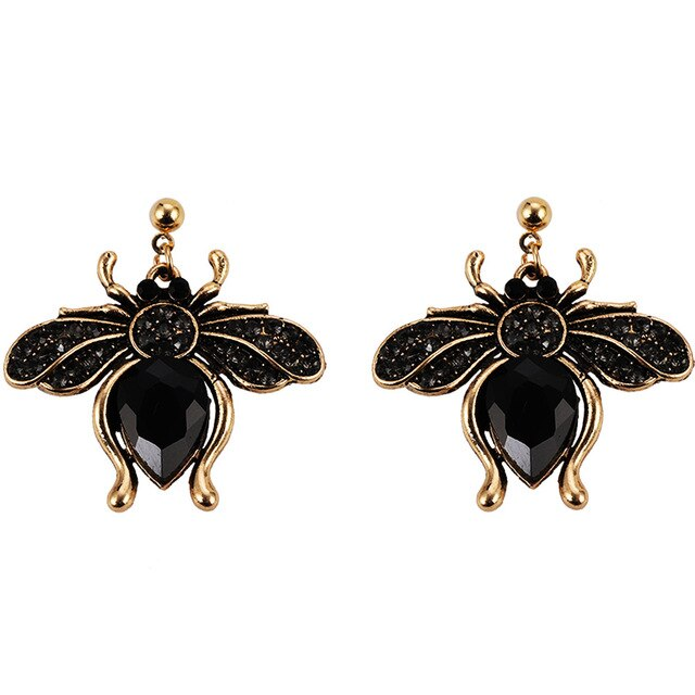 Stud Earrings Drag Fly (3 Colors)