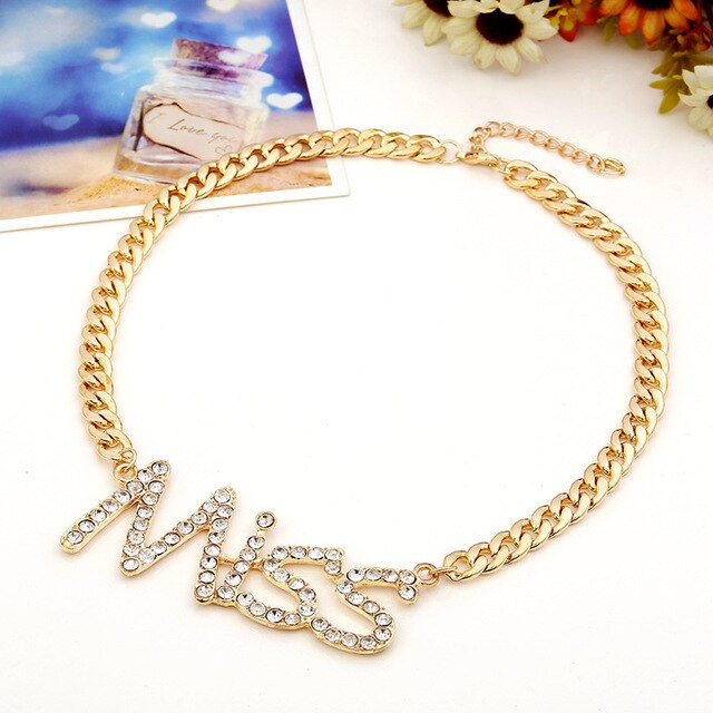 Necklace Drag Mademoiselle (Gold or Silver)