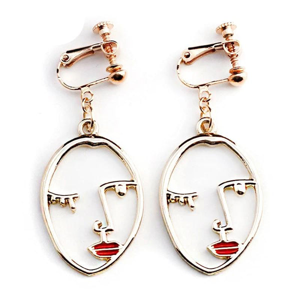 Clip Earrings Drag Inca